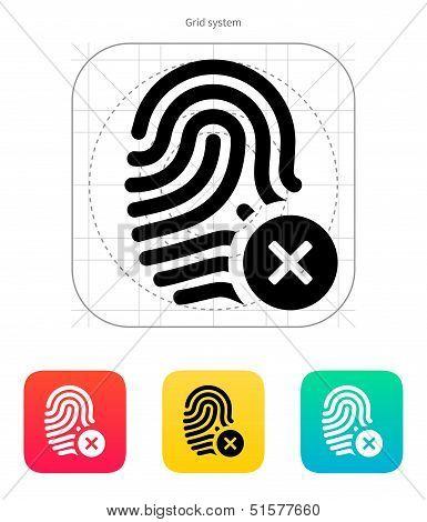 Fingerprint rejected icon.
