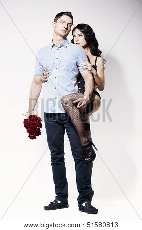 Sweethearts. Beautiful Beloved Couple Flirting Together