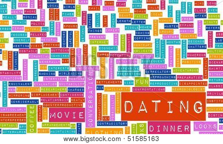 Dating Tips and Advice Checklist as Concept poster