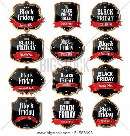 Black Friday Sale Labels