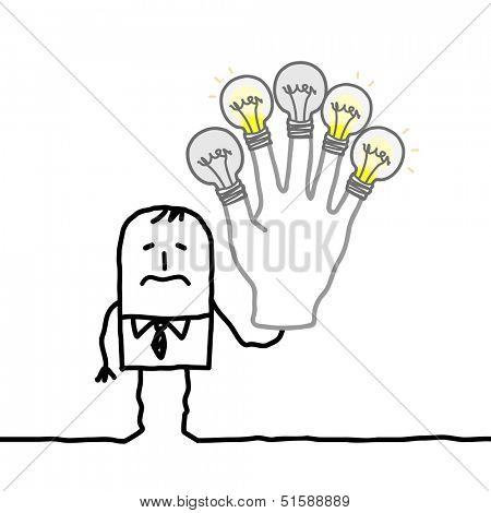 man with no more ideas or energy