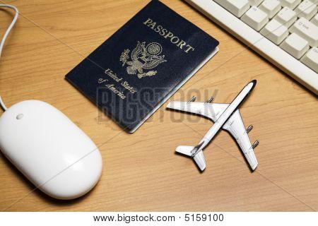 Online Travel Still Life Concept