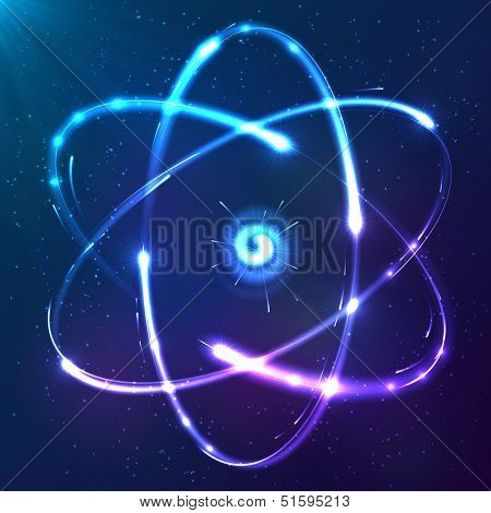 Shining atom vector neon scheme