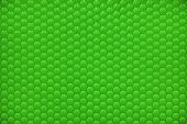 Green shiny hexagon bubble tile texture background poster