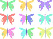 Here is a collection of colorful Butterflies for your projects. poster