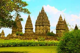 Wisnu Hindu temple in Java