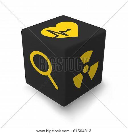 Yellow hazard Cube