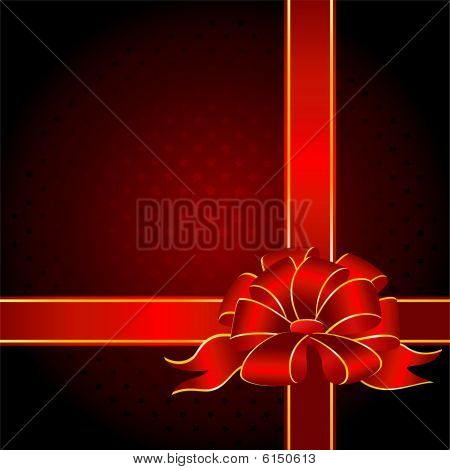 gift with a big red bow