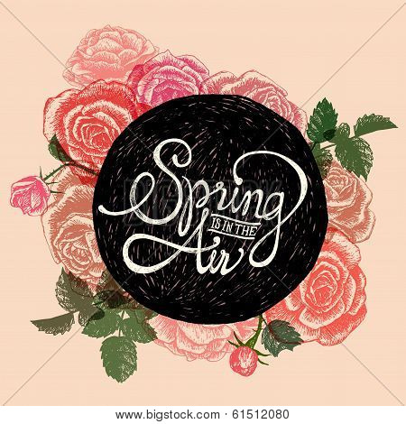 Spring Is In The Air - Flowers Quote