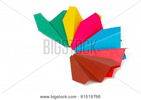 Many Colored Paper Planes