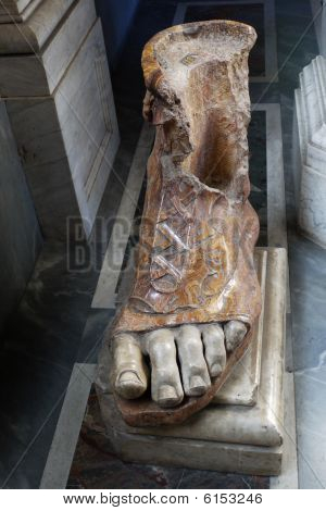 Sculptural Foot With Sandal On