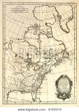 Early Map Of Eastern North America