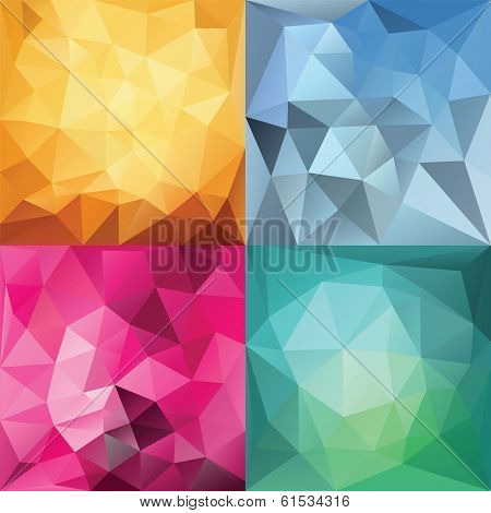 Abstract Geometric backgrounds. Polygonal vector backgrounds. This is file of EPS8 format. poster