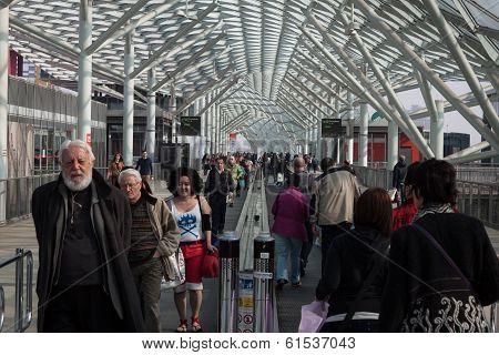 People Visiting Cartoomics 2014 In Milan, Italy