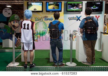 Nintendo Stand At Cartoomics 2014 In Milan, Italy