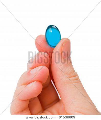 Blue Gel Capsule