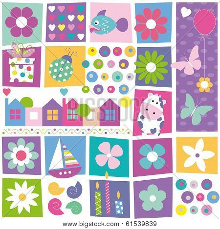 Colorful birthday pattern