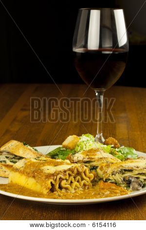 Lasagna And Wine