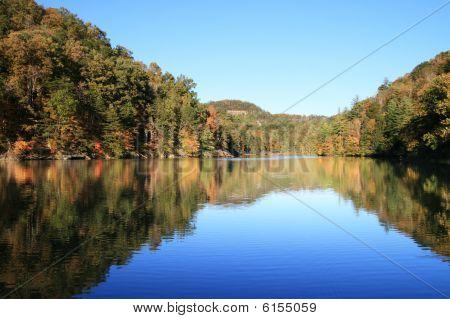 Early Fall Lake Reflection