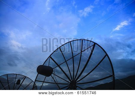 Satellite Dish on top of hotel