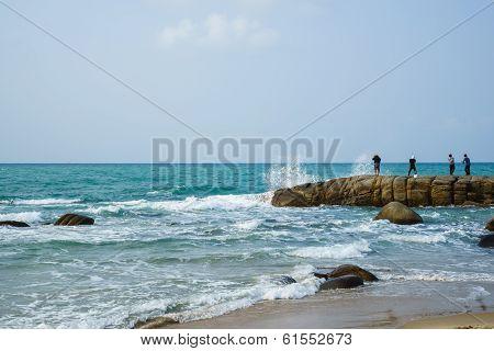 Fishing For Fun on the beach