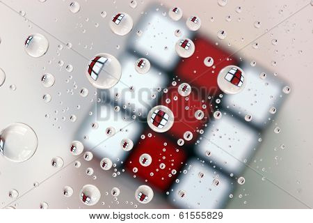 The Red And White Business End Of A Puzzle Cube