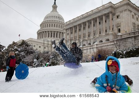 Us Capitol Snow Sled