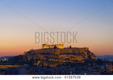 Parthenon Acropolis and Athens cityscape Greece