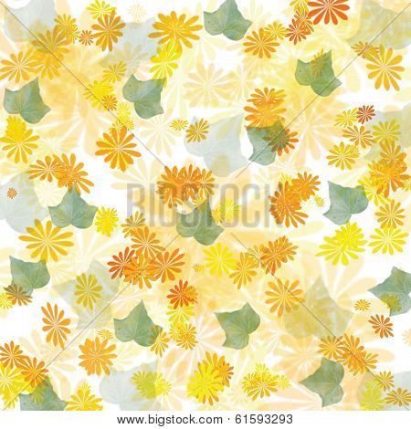 scattered spring flowers