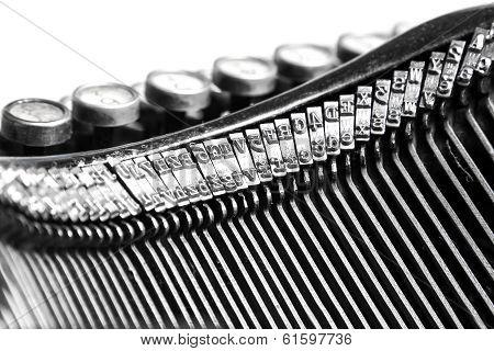 Close-up Of Old Typewriter
