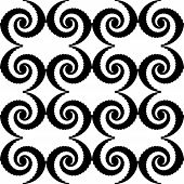Design monochrome spiral movement pattern. Abstract whirl background. Vector art poster