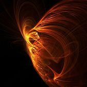 fire shine phoenix abstract poster