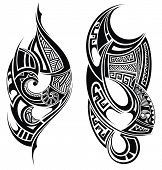 Black  Tribal tattoo. Vector elements for your design poster