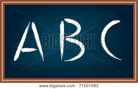 Hand Drawing Letters On Chalkboard