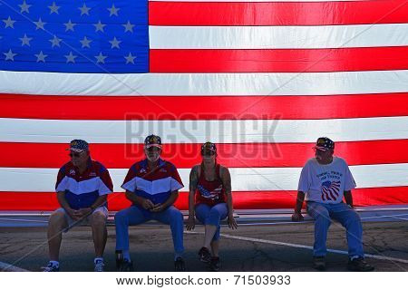 Resting Behind Flag