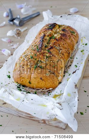 Homemade Garlic Bread.