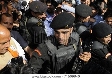 Rajnath Singh and his security
