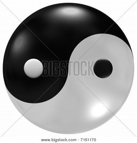 Glassy Yin-yang