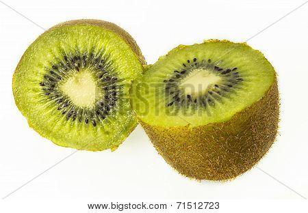 fresh Kiwi fruit sliced isolated