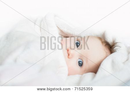 Funny Baby Playing Peek-a-boo