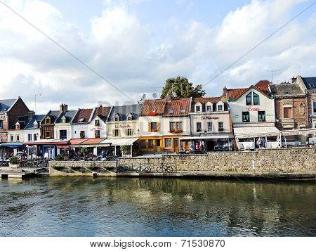 View Of Quai Belu On Somme River In Amiens