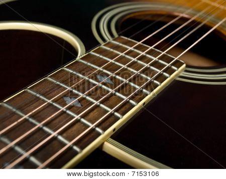 Acoustic Guitar Fretboard