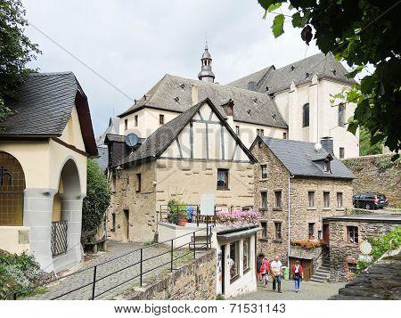 Houses In Beilstein Village, Moselle River Region