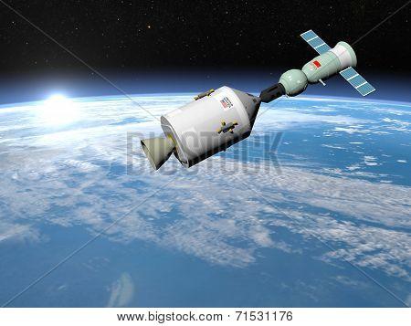 Apollo-Soyuz test project - 3D render