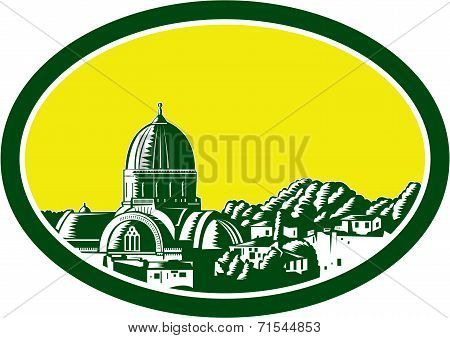 Great Synagogue Of Florence Woodcut