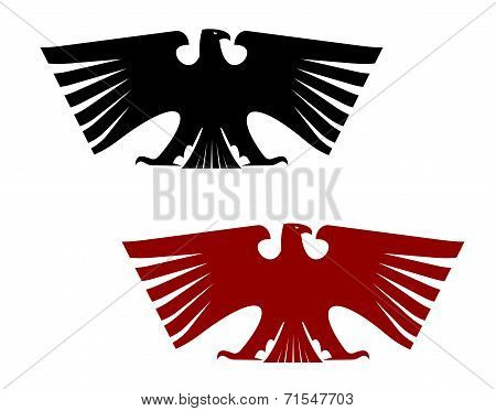 Imperial heraldic eagle with outspread wings