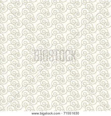 Seamless Vector Swirl Pattern Background