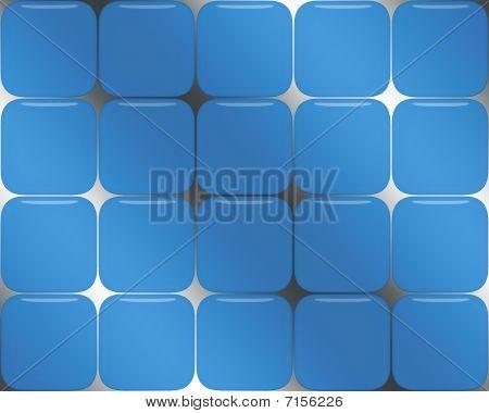 Blue Glass Box Background