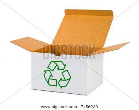 Box With Recycling Sign