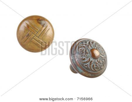 Doorknobs, Brass, Ornate Pattern